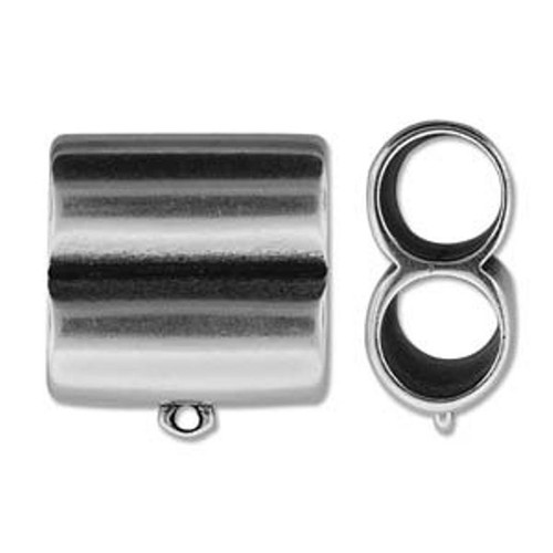 Climbing Rope Finding - Ant Silver - Double Tube 28 x 26mm (10mm Inner Diameter) - Cord End 14 x 23mm