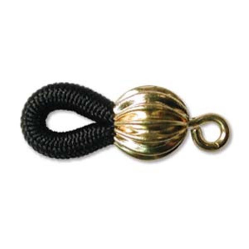 2 Pairs of Eyeglass holder, rubber and Gold-plated brass, black 20 x 8mm