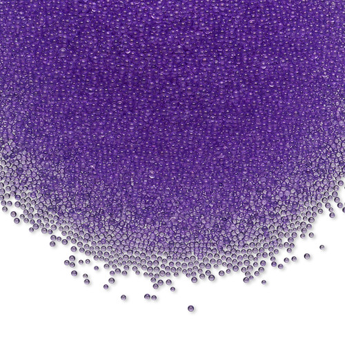Bead, coated glass, 1mm undrilled micro bead round. Sold per 15-gram bag Translucent Purple