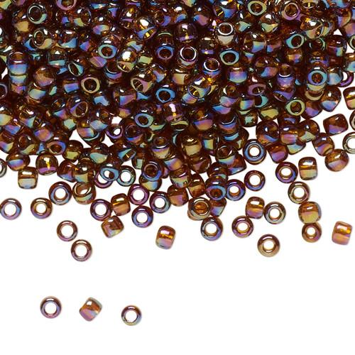 TR-08-177 - 8/0 - TOHO BEADS® - Translucent Rainbow Smoky Topaz - 7.5gm Vial - Glass Round Seed Beads