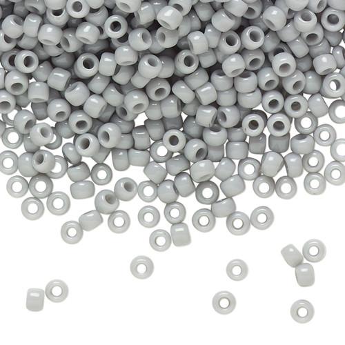 TR-08-53 - 8/0 - TOHO BEADS® - Opaque Grey - 7.5gm Vial - Glass Round Seed Beads