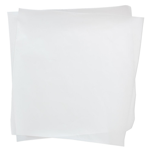 Non-stick sheet, Teflon®, white, 6-inch square. Sold per pkg of 2.