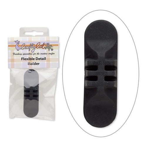 Replacement sanding pad holder, rubber, black, 3x1-inch flexible oval. Sold individually.