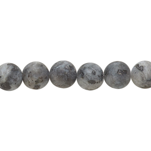 Bead, blue labradorite (natural), matte, 8mm round, B grade, Mohs hardness 6 to 6-1/2. Sold per 8-inch strand, approximately 25 beads.