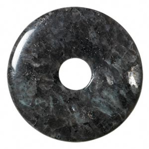 Focal, blue labradorite (natural), 50mm round donut, B- grade, Mohs hardness 6 to 6-1/2. Sold individually.