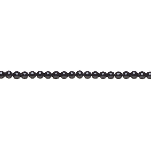 "Bead, black onyx (dyed), 2mm round, A- grade, Mohs hardness 6-1/2 to 7. Sold per 15-1/2"" to 16"" strand."