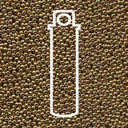 "11-01710 - 11/0 - Czech Beads - Pale Bronze Gold - 24gm, 5"" Vial - Glass  Round Seed Bead"