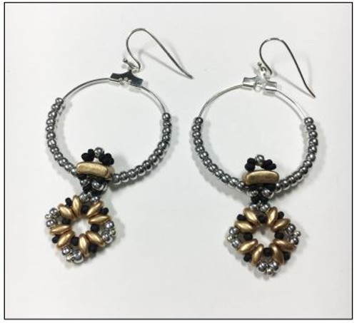 Free Download Pattern - Fixer dangle earrings - designed by Leslie Rogalski