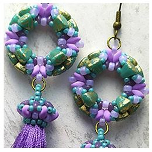 Free Download Pattern - Tomoe Earrings - designed by Michaela Pašková