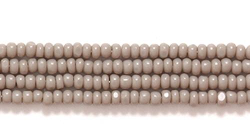 43020 - 13/0 - Czech - Opaque Grey - Hank (approx 3000 beads) Glass  Charlotte True Cut Seed Bead