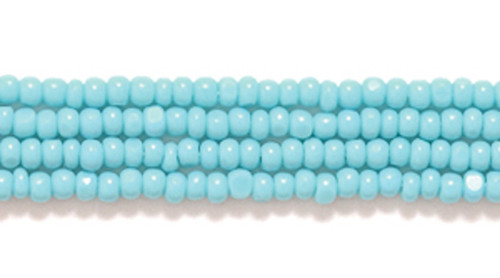63130 - 13/0 - Czech - Opaque Turquoise Green - Hank (approx 3000 beads) Glass Charlotte Cut Seed Bead