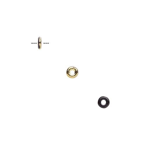 23980-26441 - 4mm - Czech - Jet Bronze Gold - 100pk - Glass Ring