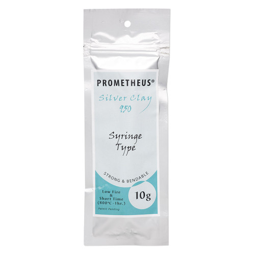 Prometheus® silver clay, low fire and short time. Sold per 10-gram syringe.