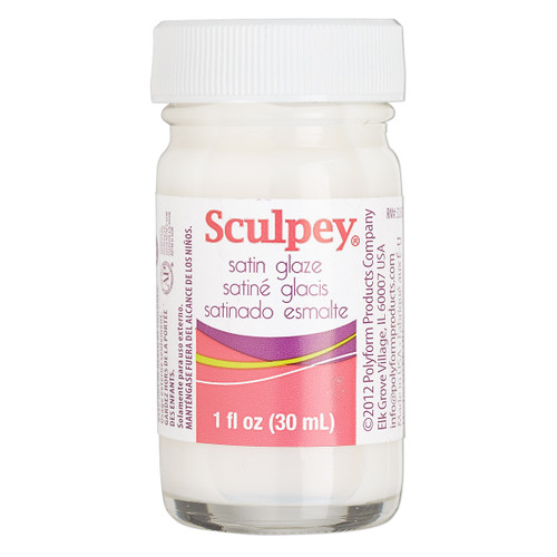 Glaze, Sculpey®, acrylic emulsion, satin. Sold per 1-fluid ounce bottle.