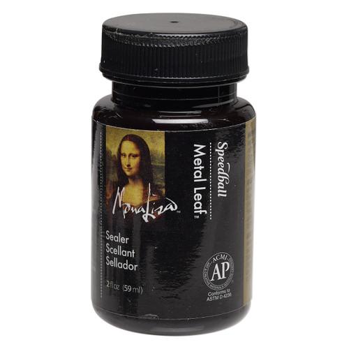 Top coat sealant, Mona Lisa™ Metal Leaf™, clear. Sold per 2-fluid ounce bottle.