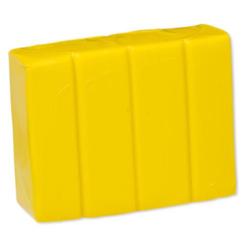 Polymer clay, Premo! Sculpey®, cadmium yellow hue. Sold per 2-ounce bar.