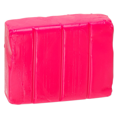 Polymer clay, Premo! Sculpey Accents®, fluorescent pink. Sold per 2-ounce bar.
