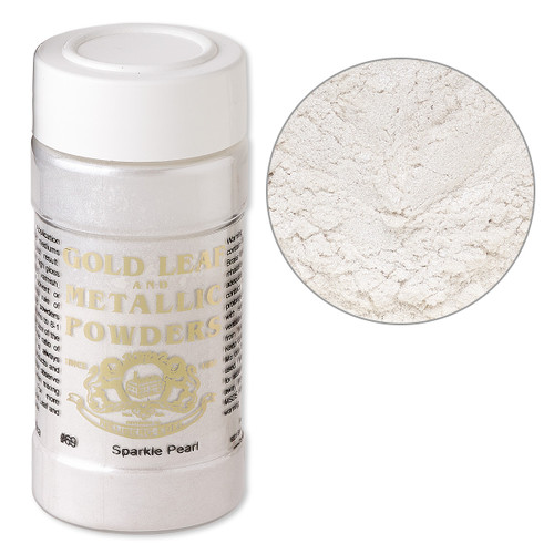 Mica powder, Gold Leaf & Metallic Powders, sparkle pearl. Sold per 1-ounce jar.