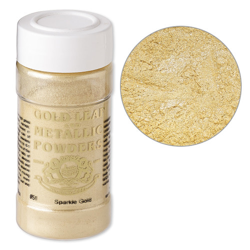 Mica powder, Gold Leaf & Metallic Powders, sparkle gold. Sold per 1-ounce jar.