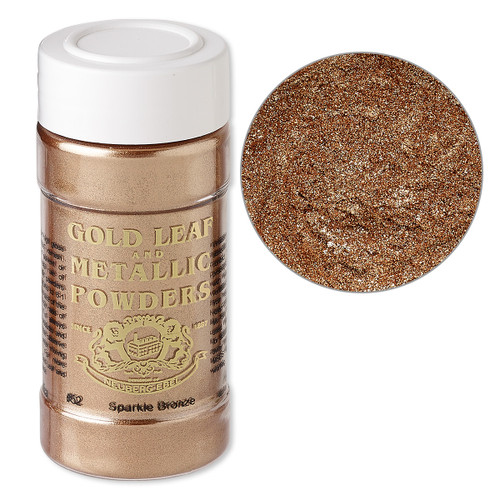 Mica powder, Gold Leaf & Metallic Powders, sparkle bronze. Sold per 1-ounce jar.