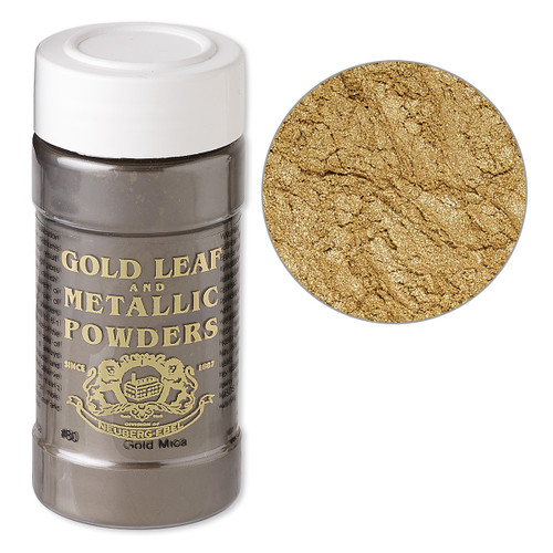 Mica powder, Gold Leaf & Metallic Powders, Gold. Sold per 1-ounce jar.