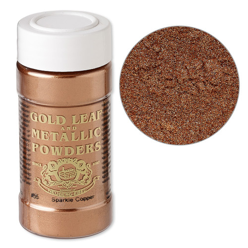 Mica powder, Gold Leaf & Metallic Powders, sparkle copper. Sold per 1-ounce jar.