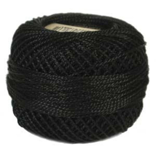Anchor Pearl Crochet Cotton Size 8 - 10gm Ball - Black (403)