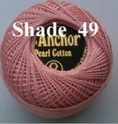 Anchor Pearl Crochet Cotton Size 8 - 10gm Ball - (49)