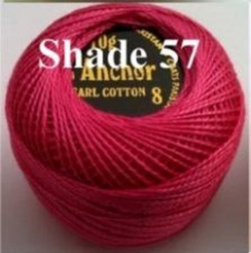 Anchor Pearl Crochet Cotton Size 8 - 10gm Ball - (57)