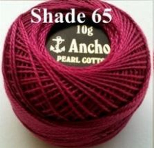 Anchor Pearl Crochet Cotton Size 8 - 10gm Ball - (65)