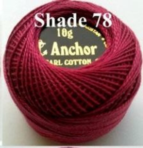 Anchor Pearl Crochet Cotton Size 8 - 10gm Ball - (78)