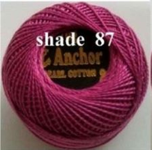 Anchor Pearl Crochet Cotton Size 8 - 10gm Ball - (87)