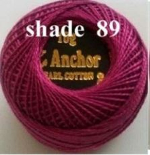 Anchor Pearl Crochet Cotton Size 8 - 10gm Ball - (89)