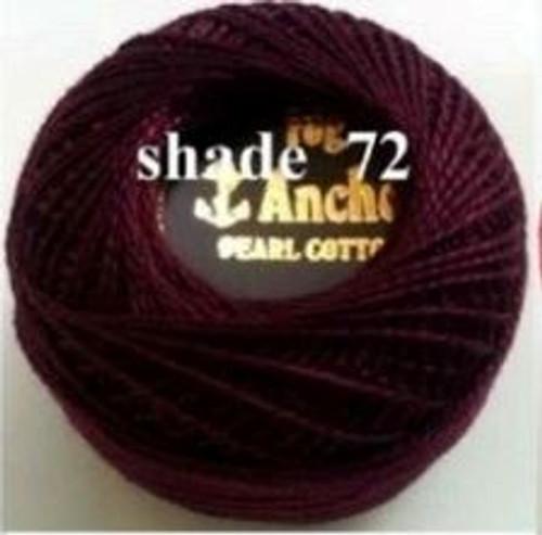 Anchor Pearl Crochet Cotton Size 8 - 10gm Ball - (72)