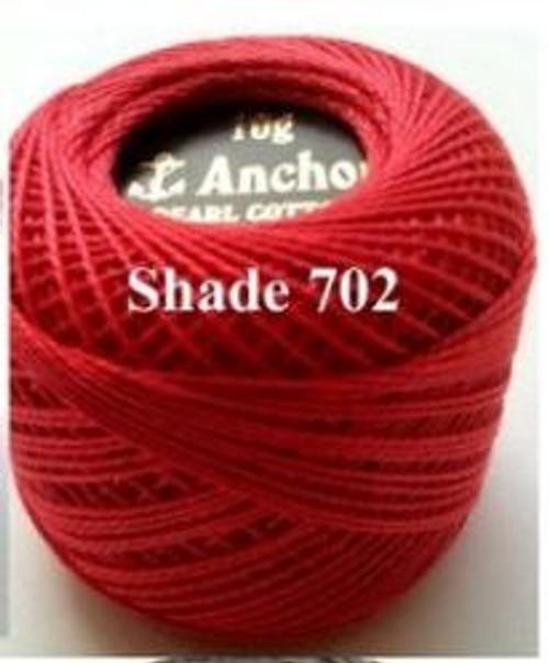 Anchor Pearl Crochet Cotton Size 8 - 10gm Ball - (702)