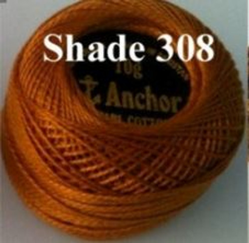 Anchor Pearl Crochet Cotton Size 8 - 10gm Ball - (308)