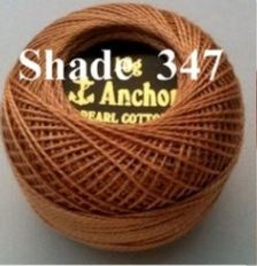 Anchor Pearl Crochet Cotton Size 8 - 10gm Ball - (347)