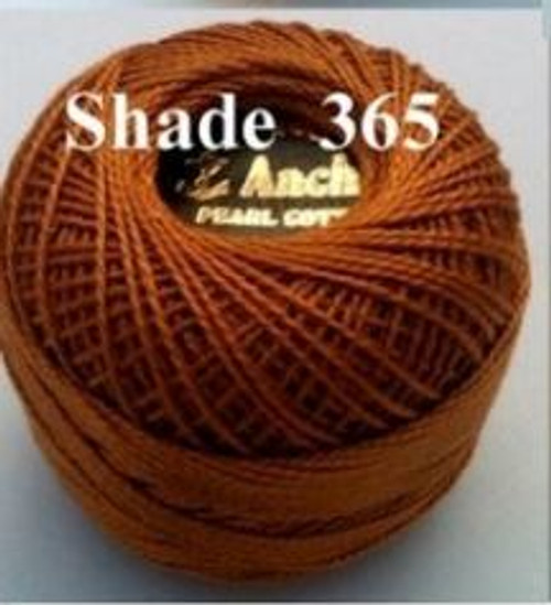 Anchor Pearl Crochet Cotton Size 8 - 10gm Ball - (365)