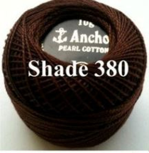 Anchor Pearl Crochet Cotton Size 8 - 10gm Ball - (380)