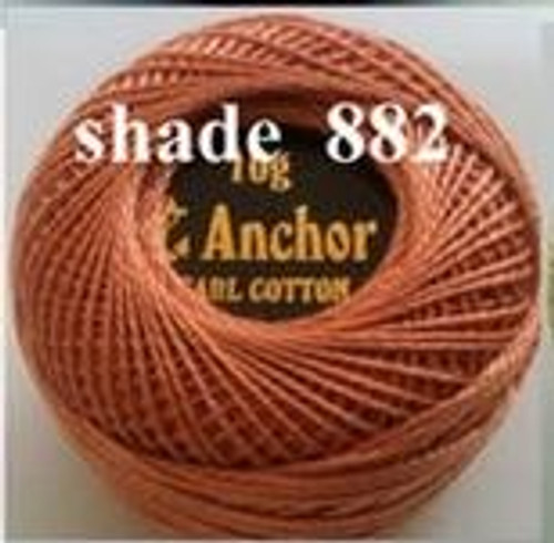 Anchor Pearl Crochet Cotton Size 8 - 10gm Ball - (882)