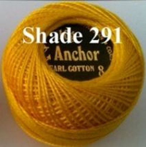 Anchor Pearl Crochet Cotton Size 8 - 10gm Ball - (291)