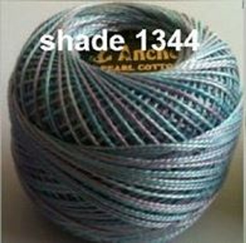 Anchor Pearl Crochet Cotton Size 8 - 10gm Ball - Variegated (1344)
