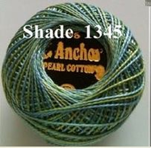 Anchor Pearl Crochet Cotton Size 8 - 10gm Ball - Variegated (1345)