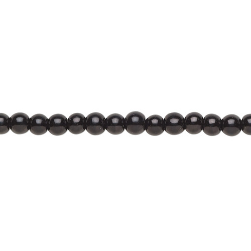 4mm - Celestial Crystal® - Black - 2 Strands - Round Glass Pearl