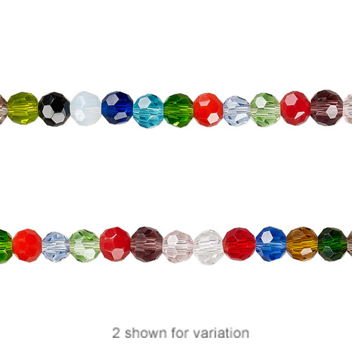 4mm - Celestial Crystal® - Mixed Colour  - 1 Strand (approx. 100 Pack)  - 32 Facet Round