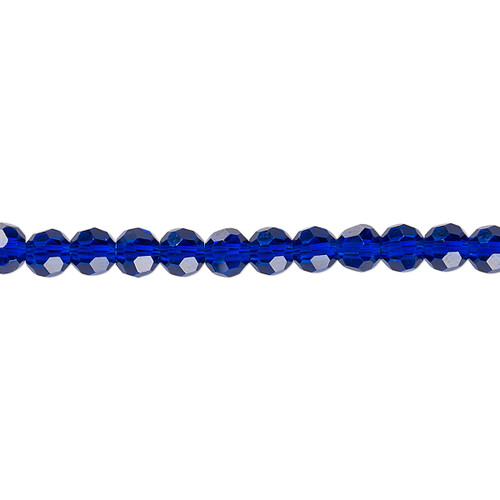 4mm - Celestial Crystal® - Translucent Cobalt - 1 Strand (approx. 100 Pack)  - 32 Facet Round