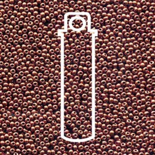 "11-01750 - 11/0 - Czech Beads - Bronze Fire Red - 24gm, 5"" Vial - Glass  Round Seed Bead"
