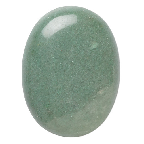 40x30mm - Green Aventurine - 1pk - Cabochon (B-Grade) (Natural) - Calibrated Oval (Mohs Hardness 7)