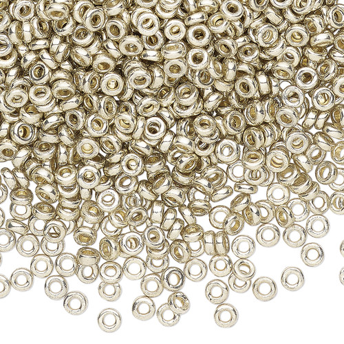 SPR3-4201 - 3 x 1.3mm - Miyuki - Op Silver - 10gms (Approx 650 beads) - Glass Rondelle Beads