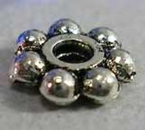 4.3mm - Antique Silver - 11gms (approx 200 pack) Tibetan Style Alloy Spacers, Flower, Hole: about 1mm